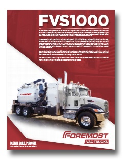 Non-Code Hydrovac Foremost 1000 Non-Code Hydrovac Model 1000 thumb