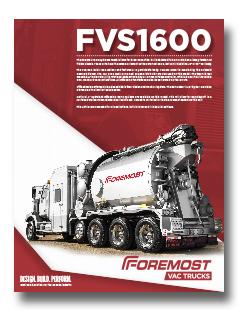 non-code hydrovac Foremost 1600 Non-Code Hydrovac Model 1600 thumb
