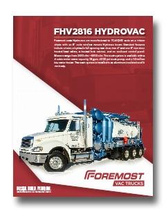 Foremost Code Hydrovac Foremost Code Hydrovac FHV 2816